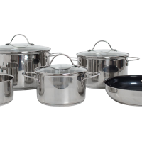 Stainless steel cookware pot plus 5 pcs