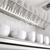 Giá bát đĩa INOXEN  inox 2 tầng cố định dạng chữ V HB05