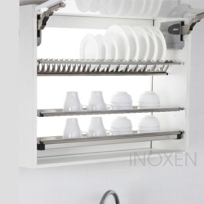 Giá bát đĩa INOXEN inox 3 tầng cố định dạng chữ V HB05.03