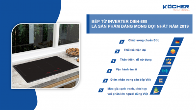 """Trình làng siêu phẩm """"bếp từ inverter công nghệ mới DIB4-888""""?"""