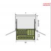 Kệ bát đĩa đa năng inox hộp - gắn cánh GROB