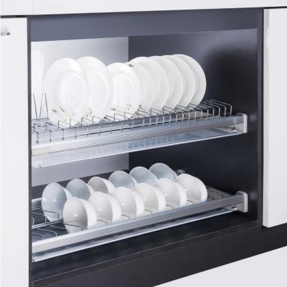 Giá để bát đĩa 2 tầng Inox 201 INOXEN lắp cố định HB01