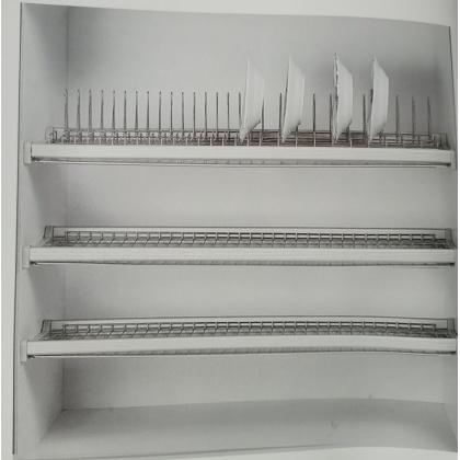 Giá bát đĩa 3 tầng INOXEN Inox 304lắp cố định HB02.03