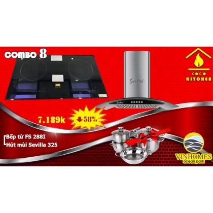 COMBO BẾP TỪ FASTER FS-288I vàHÚT MÙI SEVILLA SV-325