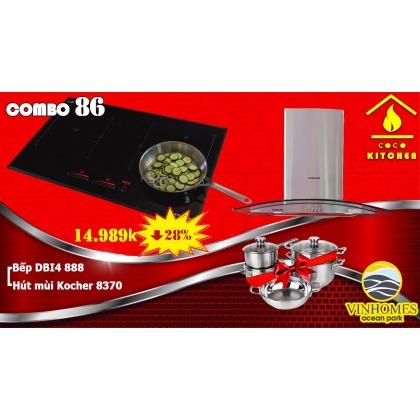 COMBO BẾP TỪ KOCHER DIB4-888+HÚT MÙI KOCHER K8370