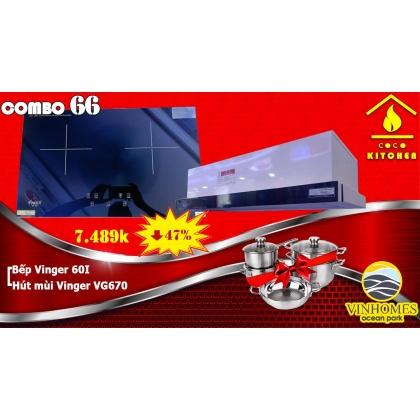 COMBO BẾP TỪ VINGER 60I+HÚT MÙI VINGER VG670