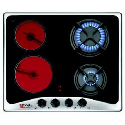 Gas cooker + infrared Vitroceramic