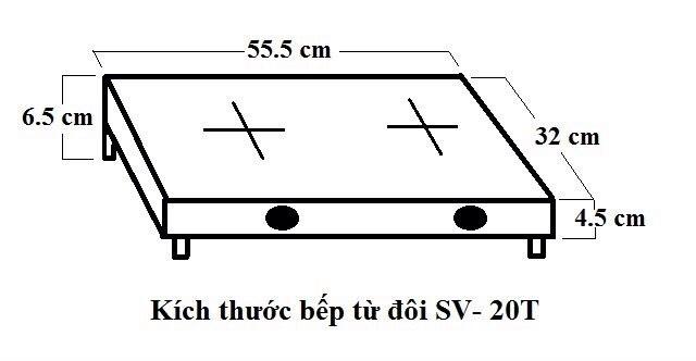 kích thước bếp sevilla sv-20t